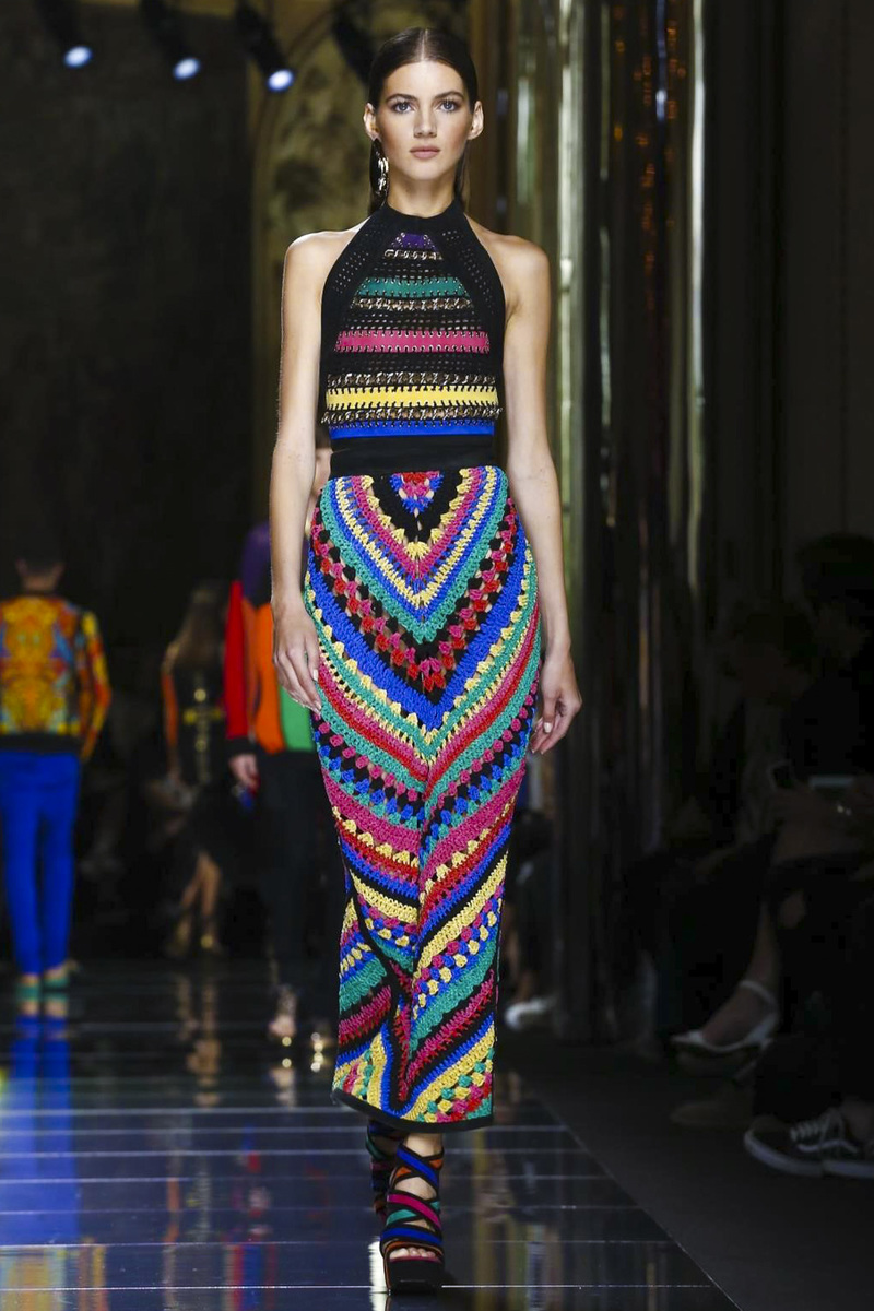 Balmain-CROCHET-DRESS
